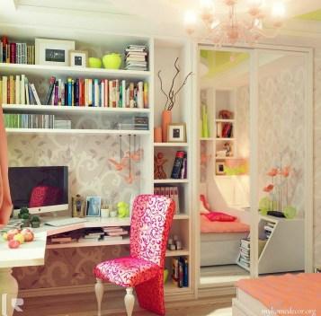 Elegant Teenage Girls Bedroom Decoration Ideas 56