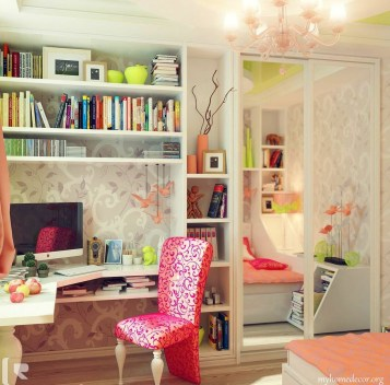 Elegant Teenage Girls Bedroom Decoration Ideas 56