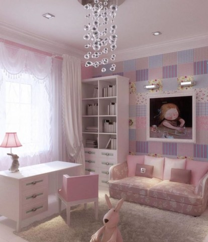 Elegant Teenage Girls Bedroom Decoration Ideas 67