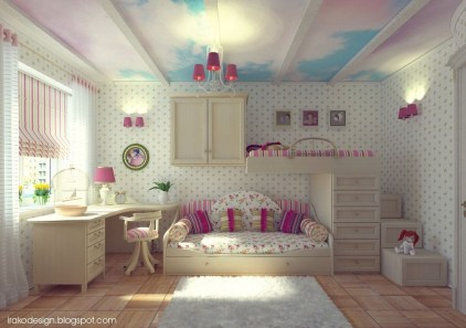 Elegant Teenage Girls Bedroom Decoration Ideas 77