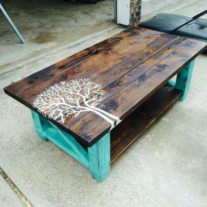 Incredible Industrial Farmhouse Coffee Table Ideas 28