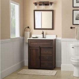 Inspiring Rustic Bathroom Vanity Remodel Ideas 06