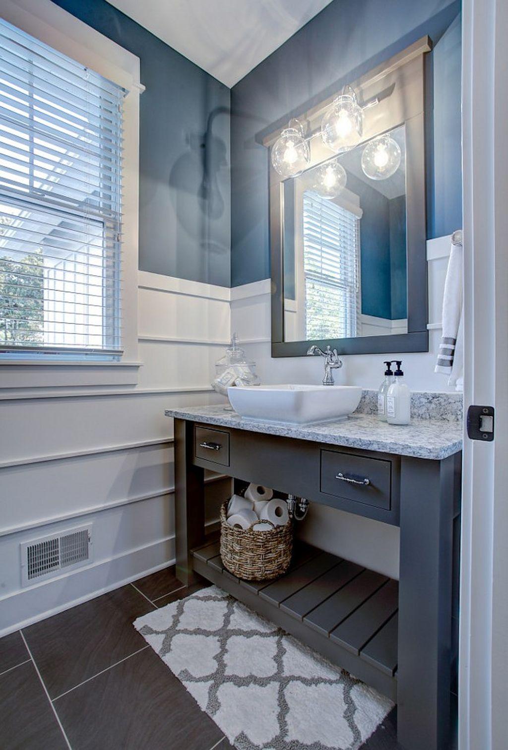 Inspiring Rustic Bathroom Vanity Remodel Ideas 09