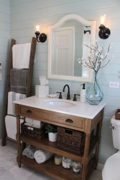 Inspiring Rustic Bathroom Vanity Remodel Ideas 18