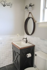 Inspiring Rustic Bathroom Vanity Remodel Ideas 39