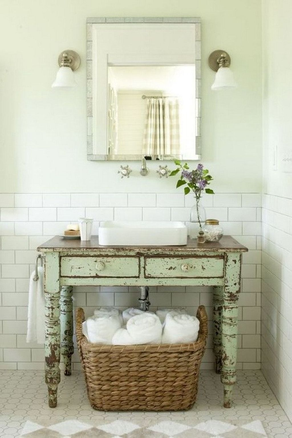 Inspiring Rustic Bathroom Vanity Remodel Ideas 50