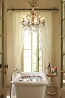 Romantic And Elegant Bathroom Design Ideas With Chandeliers 09