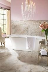 Romantic And Elegant Bathroom Design Ideas With Chandeliers 21