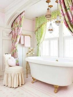 Romantic And Elegant Bathroom Design Ideas With Chandeliers 53