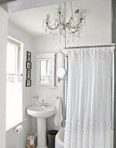 Romantic And Elegant Bathroom Design Ideas With Chandeliers 55