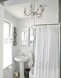 Romantic And Elegant Bathroom Design Ideas With Chandeliers 55