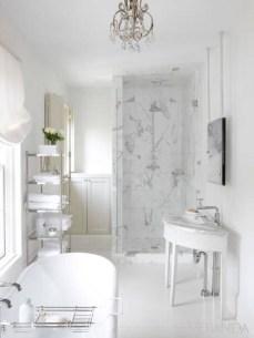 Romantic And Elegant Bathroom Design Ideas With Chandeliers 59