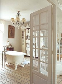 Romantic And Elegant Bathroom Design Ideas With Chandeliers 60