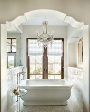 Romantic And Elegant Bathroom Design Ideas With Chandeliers 74