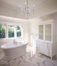 Romantic And Elegant Bathroom Design Ideas With Chandeliers 87