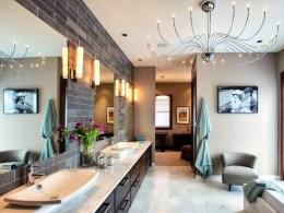 Romantic And Elegant Bathroom Design Ideas With Chandeliers 95