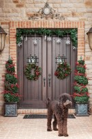 Simple But Beautiful Front Door Christmas Decoration Ideas 88