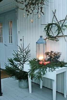 Beautiful Rustic Outdoor Christmas Decoration Ideas 16