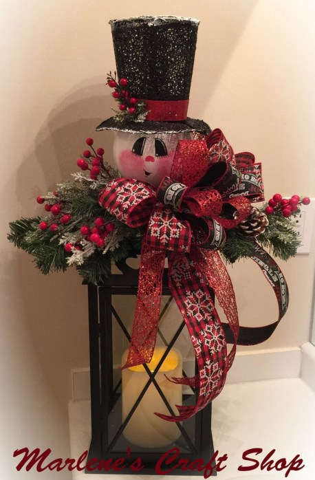 Cute And Cool Snowman Christmas Decoration Ideas 06