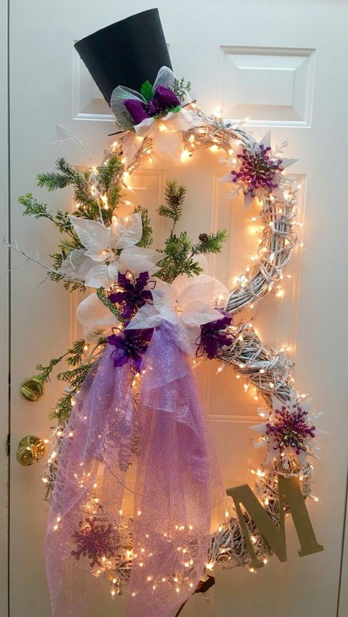 Cute And Cool Snowman Christmas Decoration Ideas 12