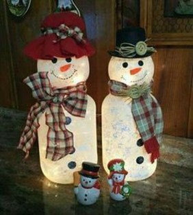 Cute And Cool Snowman Christmas Decoration Ideas 17