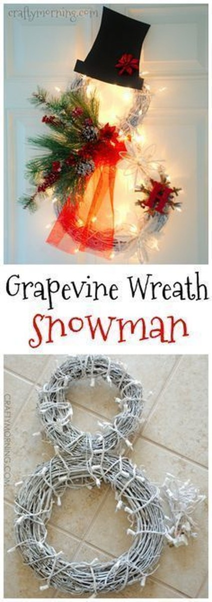 Cute And Cool Snowman Christmas Decoration Ideas 22