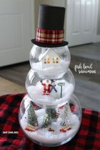 Cute And Cool Snowman Christmas Decoration Ideas 33