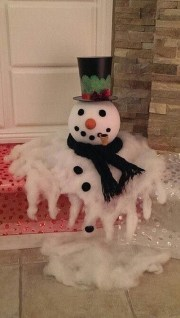 Cute And Cool Snowman Christmas Decoration Ideas 34