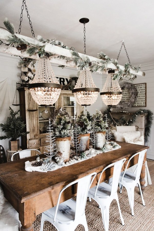 rustic farmhouse christmas decor - Rustic Elegant Christmas Decor