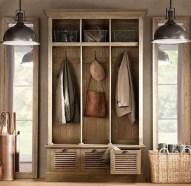 38 Brilliant Hallway Storage Decoration Ideas19