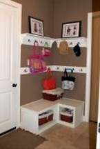 38 Brilliant Hallway Storage Decoration Ideas30