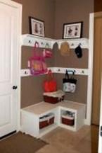38 Brilliant Hallway Storage Decoration Ideas30