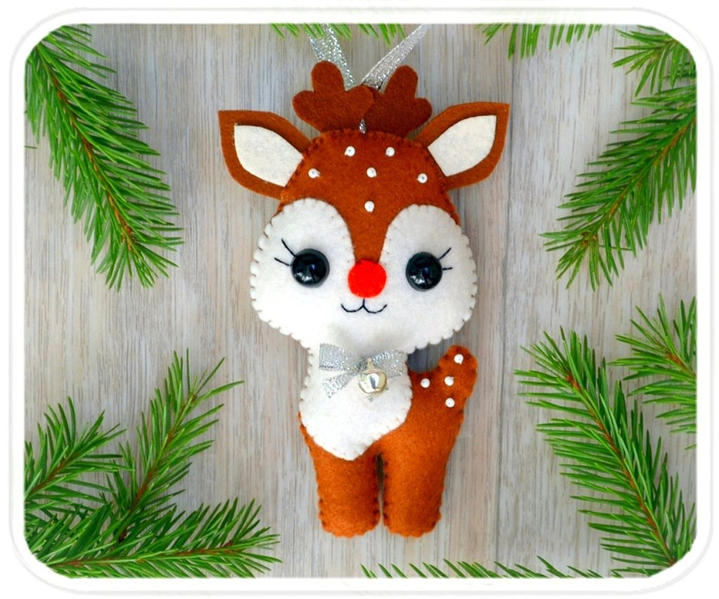 39 Brilliant Ideas How To Use Felt Ornaments For Christmas Tree Decoration 10
