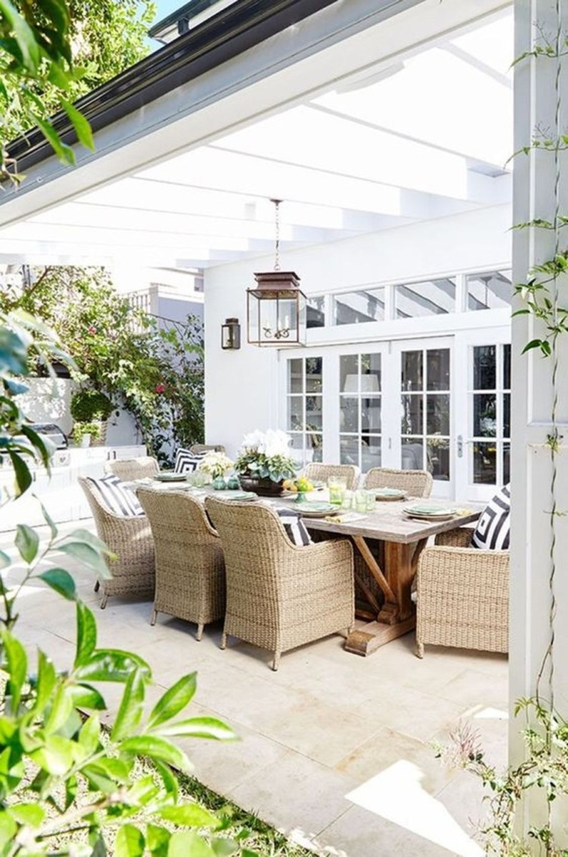 Adorable Outdoor Dining Area Furniture Ideas 22