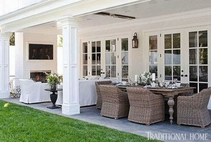 Adorable Outdoor Dining Area Furniture Ideas 27