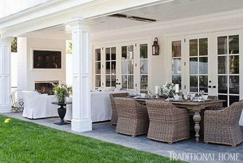 Adorable Outdoor Dining Area Furniture Ideas 27