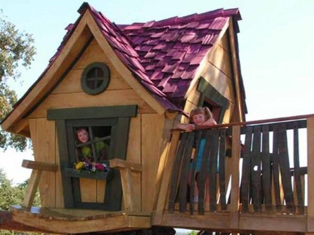 Awesome Outdoor Kids Playhouses That Youll Want To Live Yourself 25