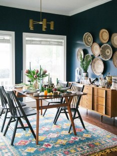 Bright And Colorful Dining Room Design Ideas 11