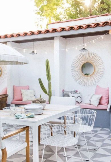 Cute And Cool Pastel Patio Design Ideas12