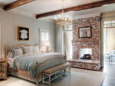 Elegant Rustic Bedroom Brick Wall Decoration Ideas 02