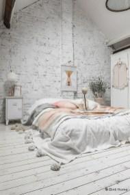 Elegant Rustic Bedroom Brick Wall Decoration Ideas 06