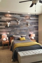 Elegant Rustic Bedroom Brick Wall Decoration Ideas 18
