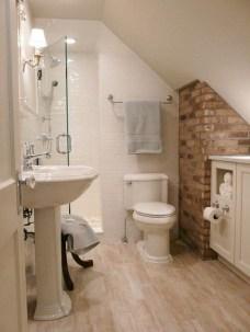 Elegant Rustic Bedroom Brick Wall Decoration Ideas 47