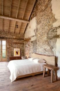 Elegant Rustic Bedroom Brick Wall Decoration Ideas 50