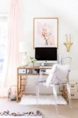 Elegant And Exquisite Feminine Home Office Design Ideas 13