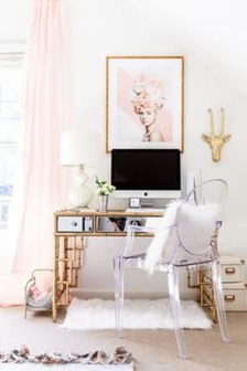 Elegant And Exquisite Feminine Home Office Design Ideas 13