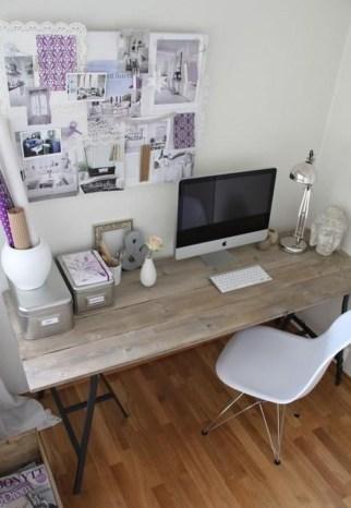 Elegant And Exquisite Feminine Home Office Design Ideas 18