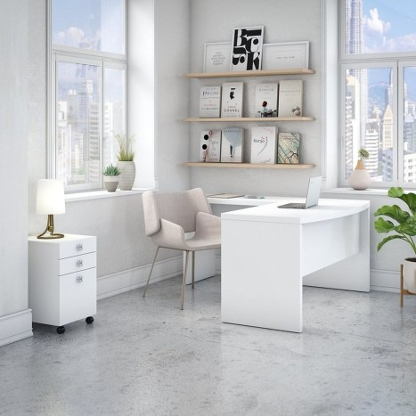 Futuristic L Shaped Desk Design Ideas 35