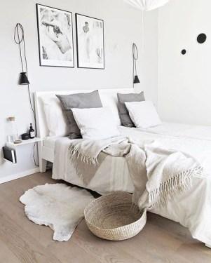 Modern And Stylish Scandinavian Bedroom Decoration Ideas 22