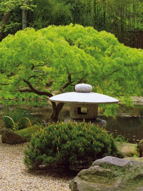 Relaxing Japanese Inspired Front Yard Decoration Ideas 09